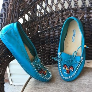 Comfort View Turquoise Flats 8
